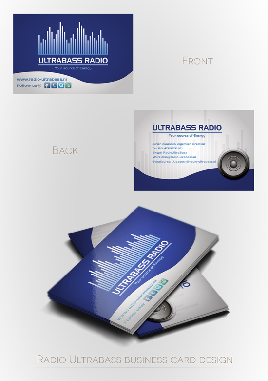 Business Card RadioUltrabass